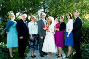 The Jones family together at Nathan's brother's wedding